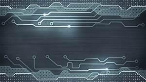 Grey Circuit Board. Computer Generated Seamless Loop Hi ...