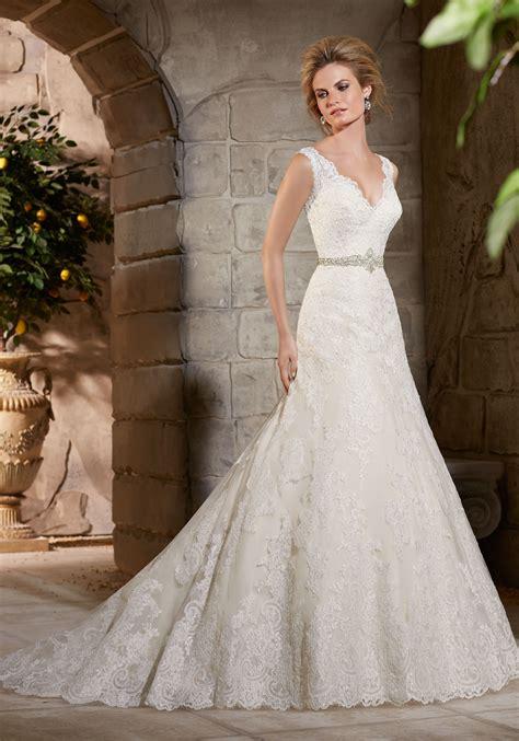 lace appliques  net  lace wedding dress style