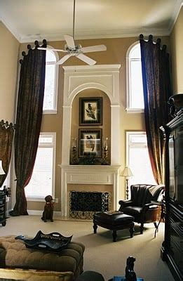 window treatments  draping  story windows