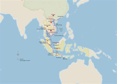 southeast asia hong kong  bali cruise overview