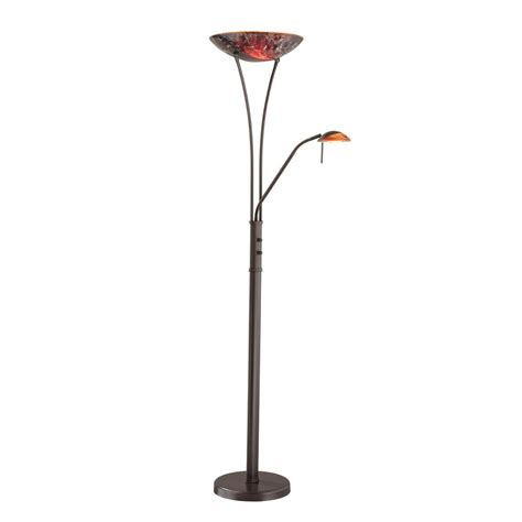 lowes floor l shades shop kendal lighting 71 in oil rubbed bronze torchiere