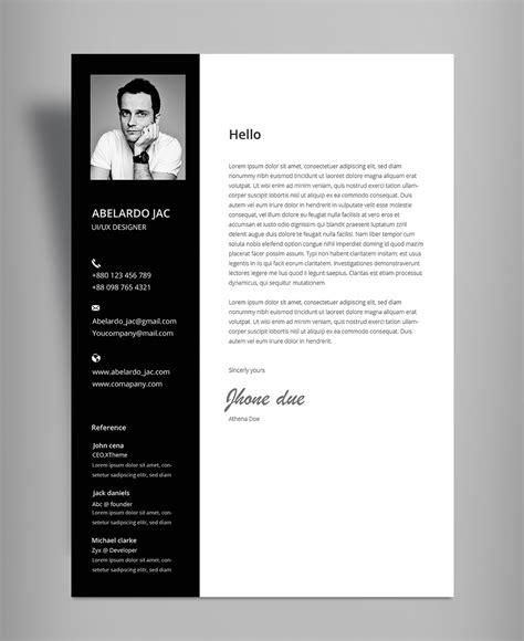 classy black white resume cv template  cover
