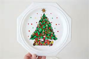 plastic christmas plates plastic candy by twostoryvintage