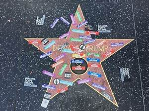 Trump Walk of Fame Star Vandalized During L.A. Gay Pride ...