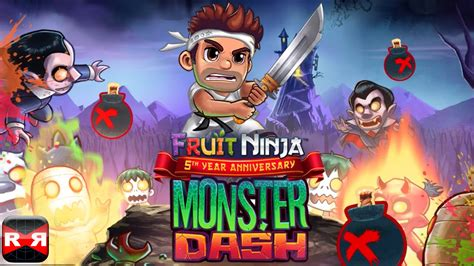 monster dash fruit ninja  year anniversary