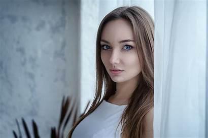 Brunette Eyes Wallpapers Woman L5 Blonde Models