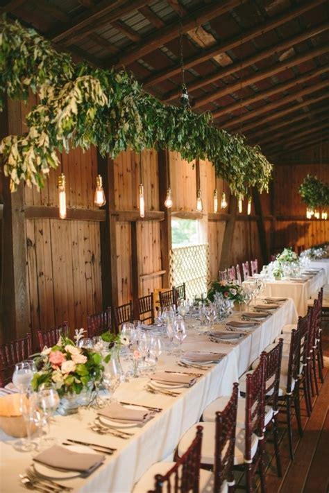 chic rustic wedding reception ideas  greenery