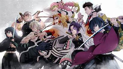 Slayer Demon Yaiba Kimetsu Team Wallpapers Anime