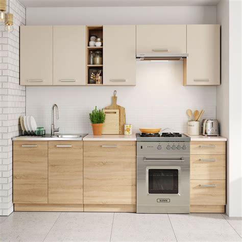 meubles de cuisine beige laque  chene clair cuisine