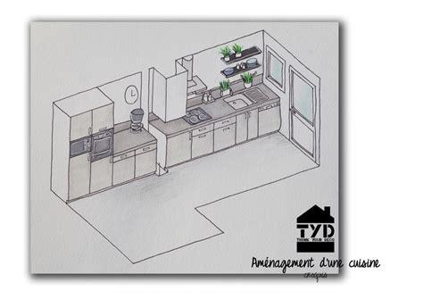 plan cuisine en longueur une cuisine en longueur tyd think your deco coach déco