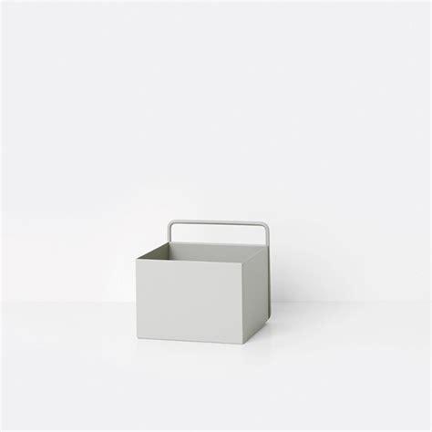 ferm living square wall box light grey opbergbox the