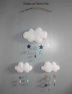 Decoration Nuage Chambre Bébé : d coration de chambre les mobiles nuages et gouttes de ~ Dallasstarsshop.com Idées de Décoration