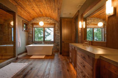 private kelowna residence rustic bathroom