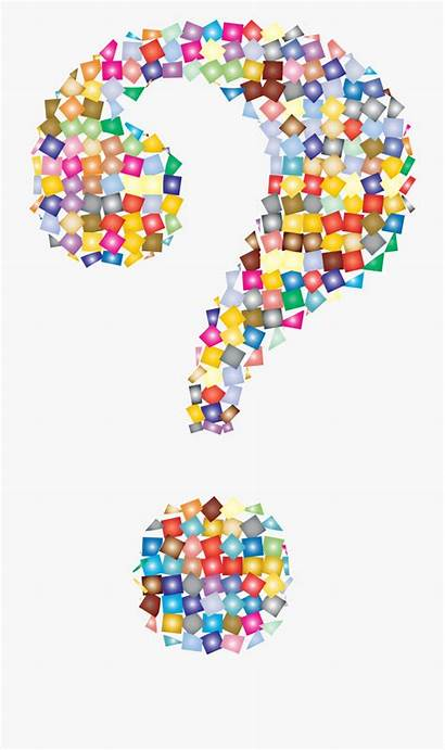 Question Mark Colorful Clip Clipart Transparent Arts