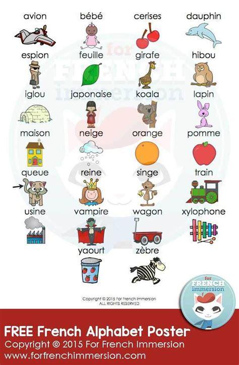 Free French Alphabet Poster Illustrated - l'alphabet ...