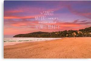 """Noosa Beach Sunset Pillow with Quote - Australia"" Canvas ..."