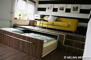 Bett Unter Podest : bett podest google suche ausziehbares bett wohnen und platzsparendes schlafzimmer ~ Watch28wear.com Haus und Dekorationen