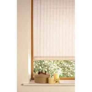store enrouleur tamisant bois tisse blanc 90x180 cm With store en bois tisse exterieur