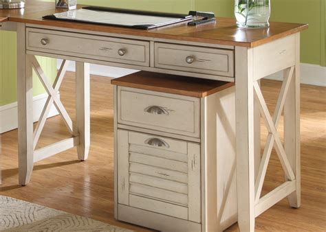 white and wood desk ocean isle home office writing desk hutch with rubberwood