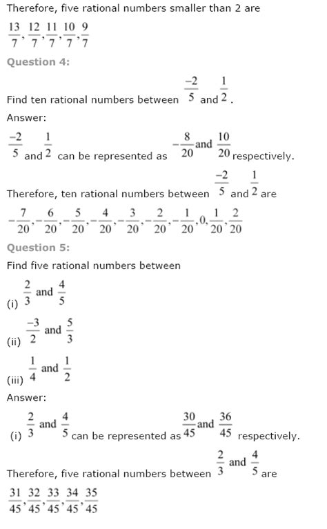 Ncert Solutions For Class 8th Maths Ch 1 Rational Numbers