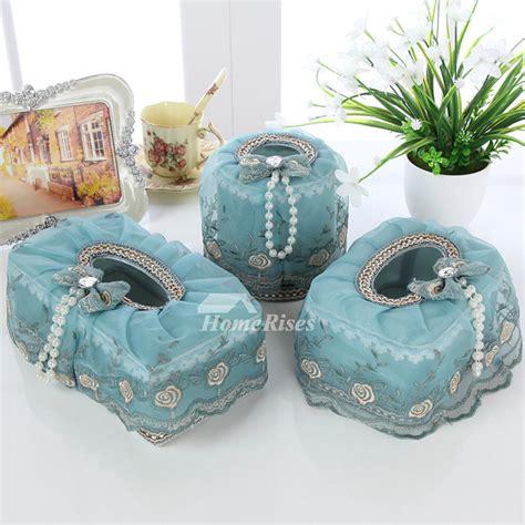 romantic lace plastic tissue box holder decorative