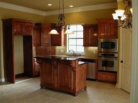 Kitchen Floor Ideas With Oak Cabinets  House Furniture