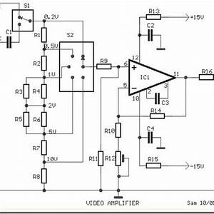 video amplifier simple circuit diagram with op amp With op amp diagram