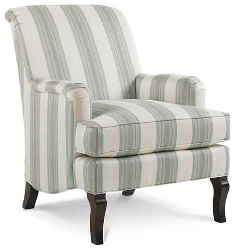 striped club chair blue white contemporary
