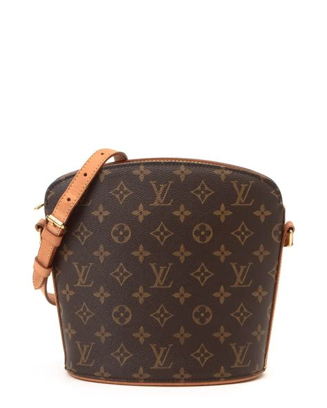 lyst louis vuitton drouot crossbody  brown