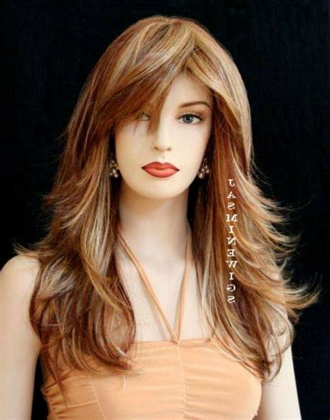 long layered hairstyles with bangs simple hairstyle
