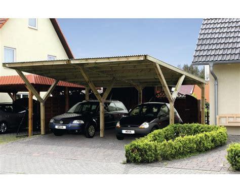 Weka Carport, Y Dubbel, Geimpregneerd 594x606 Cm Kopen Bij