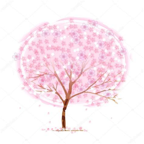 foto de árvore flor cerejeira Vetor de Stock © JBOY24 #65015643