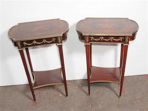 A 19th century french window guard converted to a coffee table, with wrought iron decoration and a center brass medallion, circa 1820. Pair French Empire Side Tables Cocktail Table   Side table, Table, Cocktail tables
