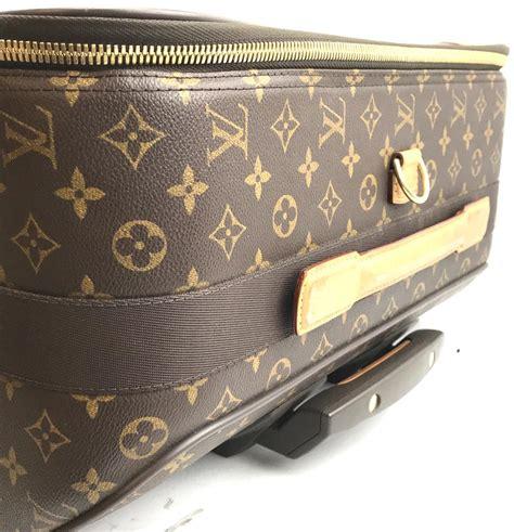 louis vuitton  pegase  roller luggage suitcase brown monogram canvas weekendtravel bag
