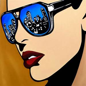 URBAN VISION - Original Abstract POP Art Portrait Painting