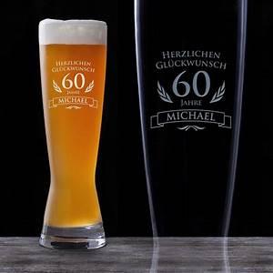 Geburtstagsbilder Zum 60 : weizenglas zum 60 geburtstag personalisiert bierglas graviert ~ Buech-reservation.com Haus und Dekorationen