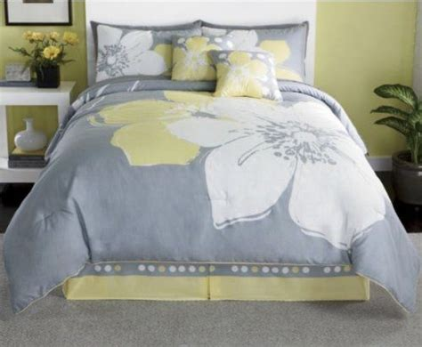 yellow bedding grey comforter bed curtains bag queen sheets marisol pieces gray amazon pillows linen grand king bedroom collect touch