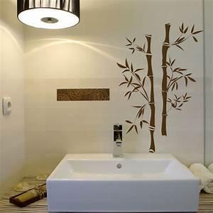 art wall decor bamboo flooring bathroom wall green With ideas for bathroom decals for walls