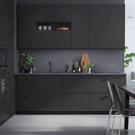 black kitchen cabinets ikea ikea anthracite kitchen cabinets black hardware