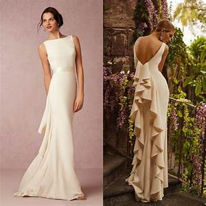 2016 summer beach satin bhldn wedding dress sexy backless With guest wedding dresses