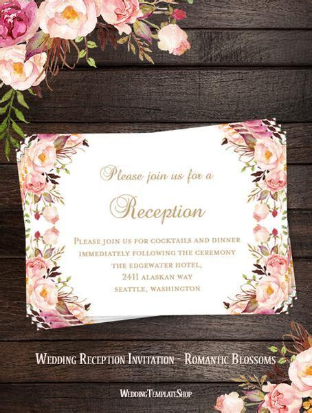 wedding reception invitations printable diy templates