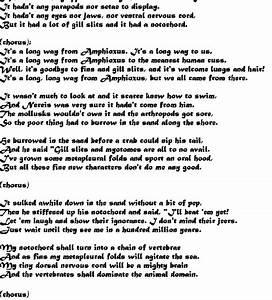 The Amphioxus Song  U0026quot Its A Long Way From Amphioxus U0026quot   From