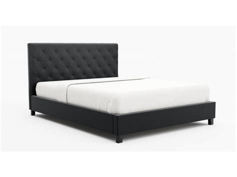 Affordable Single Beds by Size Fabric Bed Frame Marco Collection Charcoal