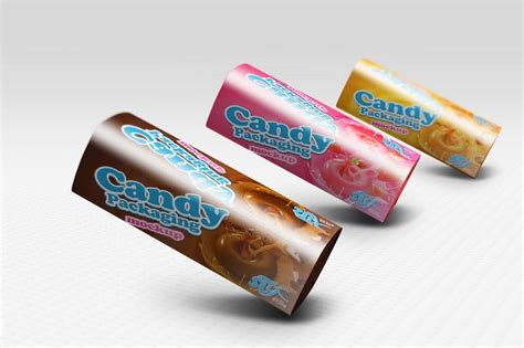 Mockup of packaging for snacks, bars. Candy Bar Mockup | 35+ Candy Bar PSD Packaging Template