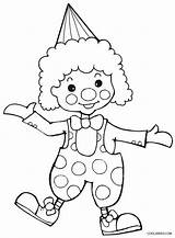 Clown Coloring Printable Cool2bkids sketch template
