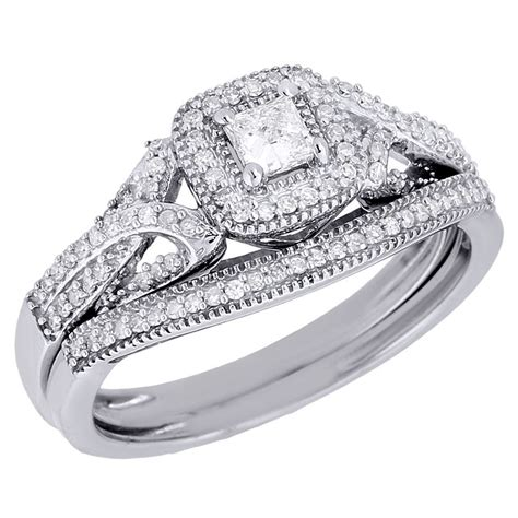 10k white gold princess cut solitaire bridal diamond wedding ring 0 40 ct ebay