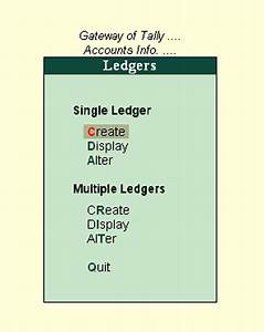 Ledgers Furniture Learn Accounting And Computer Learning Tally Example 1