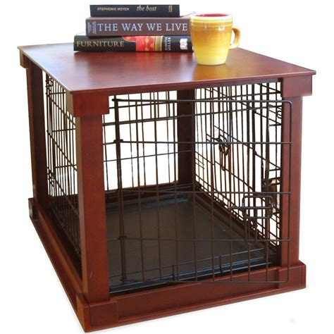 dog crate side table pet crate end table in pet pens