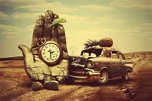 Creative 3d art surreal time chevrolet retro g wallpaper ...