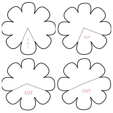 small paper flower templates petal clipart felt flower pencil and in color petal clipart felt flower
